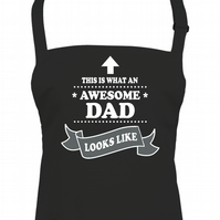 This is What An Awesome Dad Looks Like- Top Dad Men's apron  - AA1765