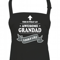 This is What An Awesome Grandad Looks Like- Top Gramps apron  - AA1764