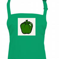 Ready Steady 'Green Pepper' Cook - unisex apron  - AA1399