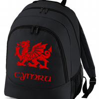 Cymru flag of Wales - WELSH REGIONAL PRIDE backpack bag  - BPK1432