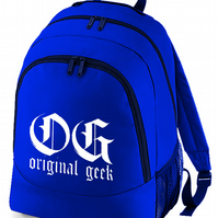 OG- Original Geek, old school rapper style nerdy Backpack  - BPK1486