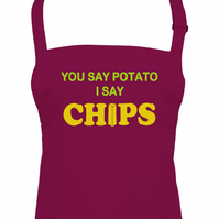 You Say Potato I Say Chips - funny fries unisex kitchen chef's apron - AA1396