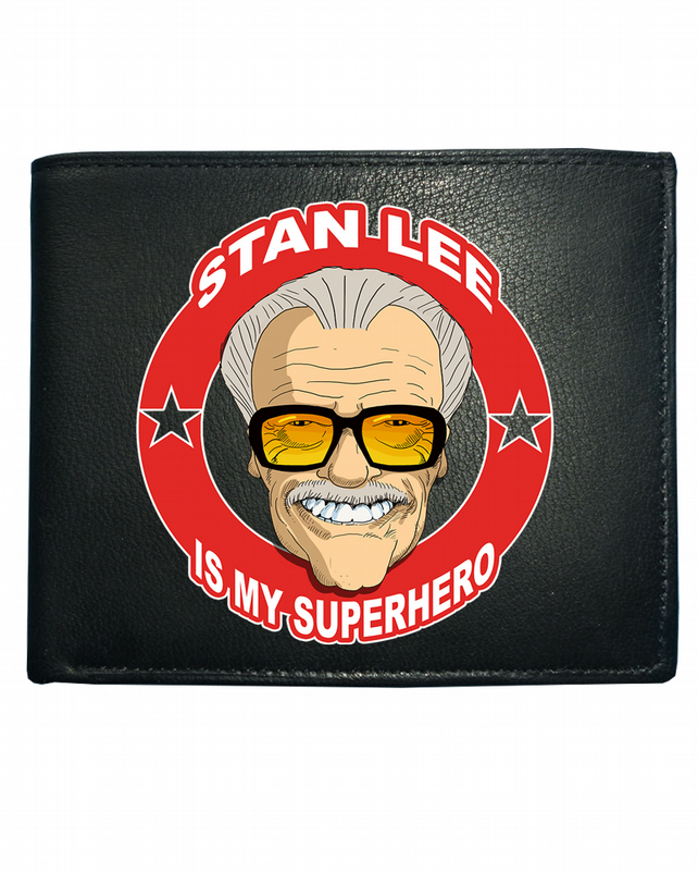 STAN LEE Is My Superhero- Cool Comic Style Men's Leather Wallet- WBF1571