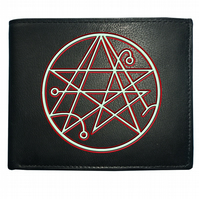 Sigil of the gateway cthulhu symbol- Lovecraft inspired Leather Wallet- WBF1226