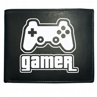 GAMER ICON- Game Player  Male Men's  Leather Wallet ,- WBF1676