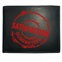 SATISFACTION GUARANTEED- Funny Men's  Leather Wallet ,-WBF1667
