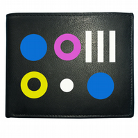 LIQUORICE SWEETS- Retro sweet shop favourites Men's  Leather Wallet - WBF1191