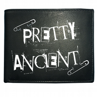 PRETTY ANCIENT- Old Age Punk Rocker Funny Men's Leather Wallet- WBF1357