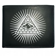 Eye of providence- The all seeing eye-  Image Men's  Leather Wallet -WBF1124