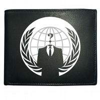 ANONYMOUS CIVIL DISOBEDIENCE, Anti establishment Leather Wallet- WBF1496
