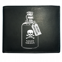 Mass media poison- do not swallow- Men's  Leather Wallet  -WBF1111