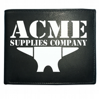 ACME ANVIL- Looney animated cartoon inspired Men's  Leather Wallet - WBF1020