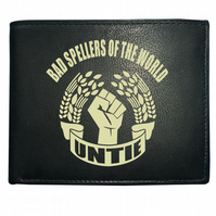 Bad Spellers of the World Untie- Dictionary Shy Men's  Leather Wallet -WBF1023