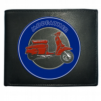 MODFATHER SCOOTER- Cool Iconic Motor cycle Men's  Leather Wallet -WBF1335