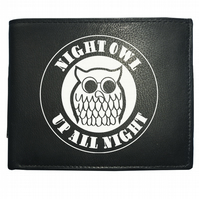 NIGHT OWL. Up All Night. Northern Soul Iconic Logo Men's Leather Wallet -WBF2218