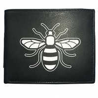 MANCHESTER BEE- Regional Symbol of Working Class Pride- Leather Wallet -WBF2153