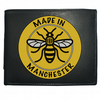 MADE IN MANCHESTER- Regional Pride Manchester Bee- Leather Wallet -WBF1885