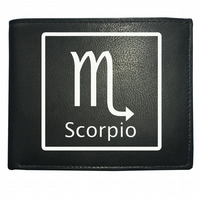SCORPIO 'THE SCORPION' horoscope sign- astrological Leather Wallet -WBF2103