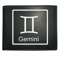 GEMINI 'THE TWINS' horoscope Air sign- astrological Leather Wallet -WBF2099