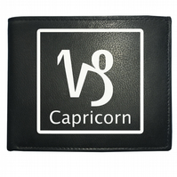 CAPRICORN 'THE GOAT' horoscope Earth sign- astrological Leather Wallet -WBF2097