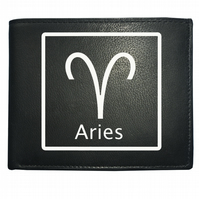 ARIES 'THE RAM' horoscope fire sign- astrological Leather Wallet -WBF2093