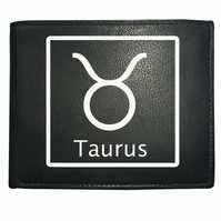 TAURUS 'THE BULL' horoscope Earth sign- astrological Leather Wallet -WBF2096