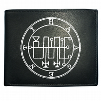 The seal of haagenti- Cult Mythos Demonology Devil- Leather Wallet  WBF1141