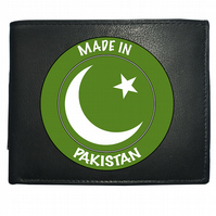 MADE IN PAKISTAN- National Pride Star & Moon flag- Leather Wallet -WBF2158