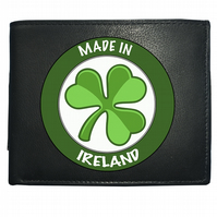 MADE IN IRELAND- National Pride Clover Symbol- Leather Wallet -WBF2156