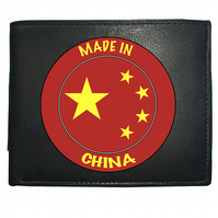 MADE IN CHINA- National Pride Star flag- Leather Wallet -WBF2154