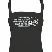 Top of the Food Chain- 'Non vegetarian' burger eating  kitchen apron  -AA1285