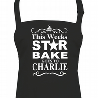 Traditional Sandwich Board 'STAR BAKE' Apron - Email the name you want - AA1548