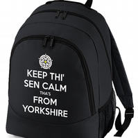 Keep Thi Sen Calm, Tha's From Yorkshire - Funny Keep Calm backpack  - BPK1216