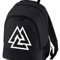 VALKNUT SYMBOL - Slain Warrior Norse Knot - Cool backpack bag  BPK1522