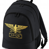 STANDARD SPQR- Roman Empire  Gold Eagle backpack bag  BPK2228
