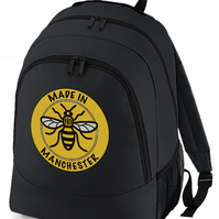 MADE IN MANCHESTER - Worker Bee Symbol - Back pack bag   -BPK1885