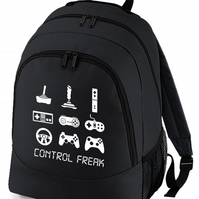 CONTROL FREAK- Arcade console Gamer Addict- Graphic Backpack  - BPK1035