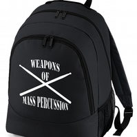 Weapons Of Mass Percussion - Drummer's Drum Sticks- BackPack Bag  - BPK1501