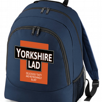 YORKSHIRE LAD- Deliciously Tasty Funny Parody backpack bag  - BPK1010
