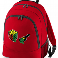 GAME CUBE CHEAT- Funny retro toy puzzle spoof- backpack   -BPK1748