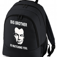 Big Brother Is Watching - British Cult Classic inspired Backpack  BPK1117