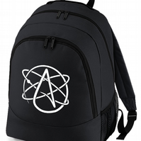 ATHEISM SYMBOL- Atheist Non-believer Logo backpack bag  - BPK1634
