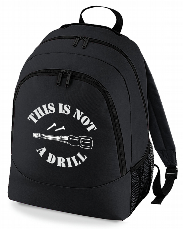 This Is Not A Drill - No, its a screwdriver Men's Backpack  -BPK1065