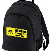GRUMPY OLD GIT- Old Man's backpack bag   -BPK1332
