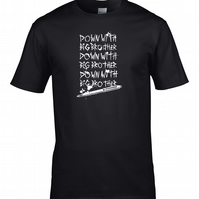 DOWN WITH BIG BROTHER- - George Orwell 1984 inspired Men's T-shirt MTS1710