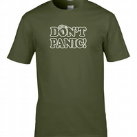 DONT PANIC- WarTime WW2 Classic Comedy Series Inspired Men's T-shirt  MTS1711