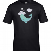 SPERM WHALE & BOWL OF PETUNIAS- Classic Comedy  inspired Men's T-Shirt   MTS1704