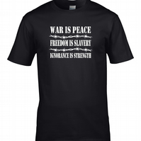 War is Peace, Freedom is Slavery, Ignorance is Peace 1984- Men's T shirt MTS1709