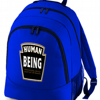 human being beans label -Funny backpack bag  -BPK1595