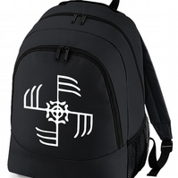 VIKING WAR SYMBOL- Cool Graphic backpack bag  -BPK1523